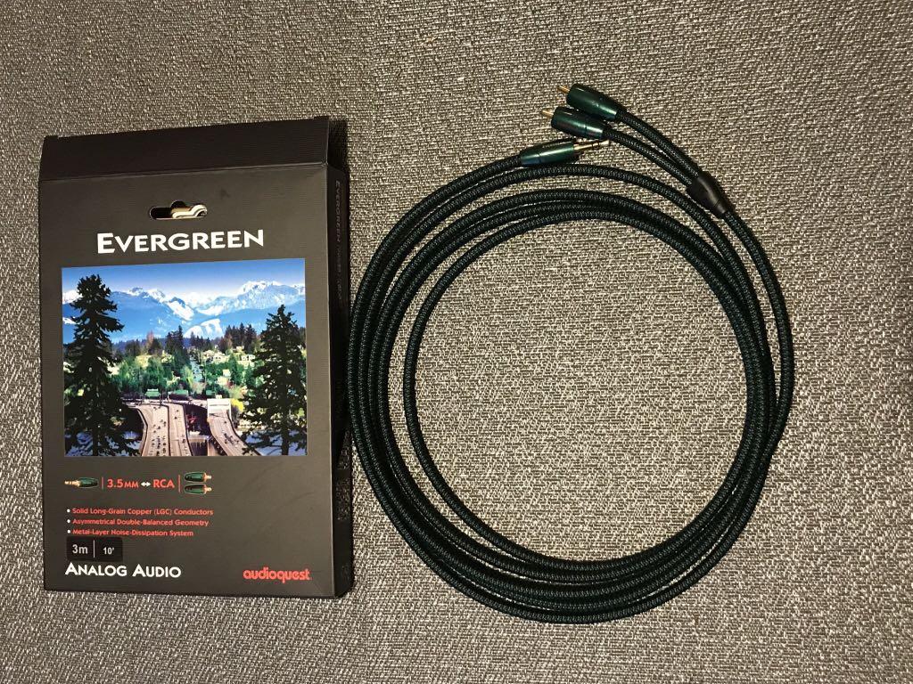 Kabel Audioquest Evergreen 3m Jack/2xRCA