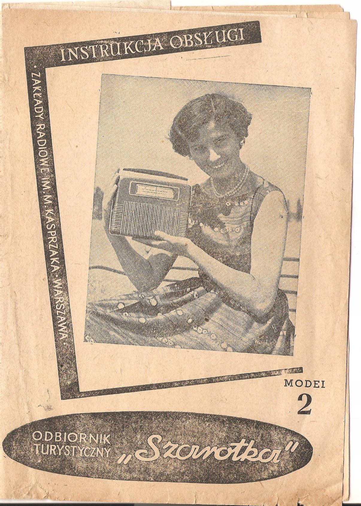Instrukcja obsługi radio Szarotka, l. 50