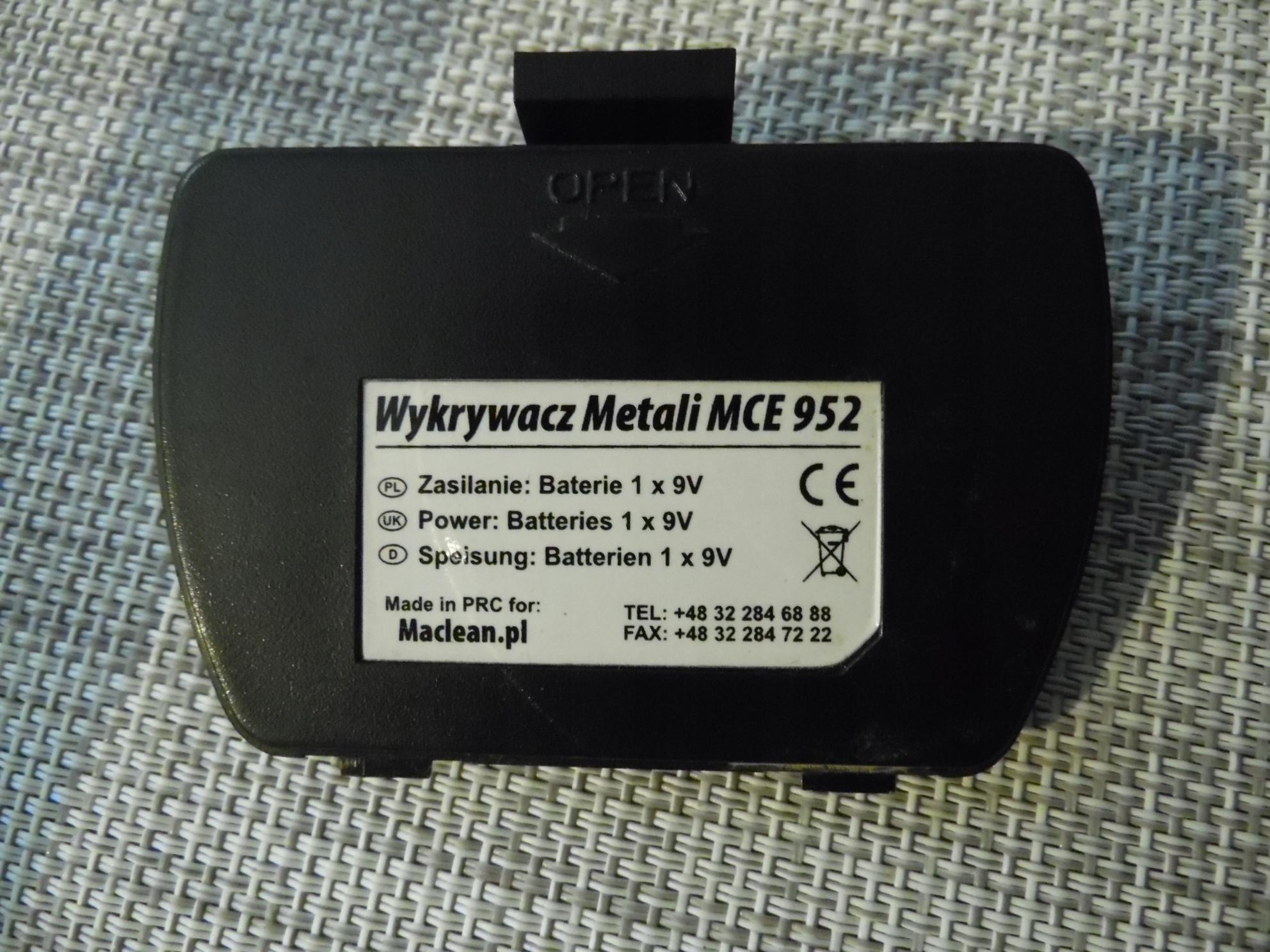 Wykrywacz Metali MCE952
