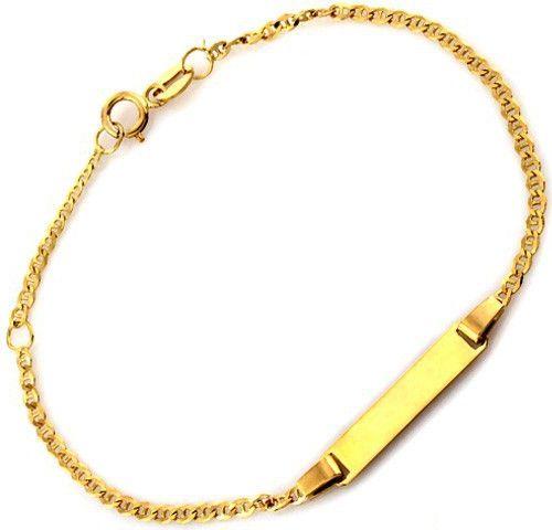 e7065f3c4c Złota bransoletka dla dziecka z Grawerem 585 14K - 7348393872 ...