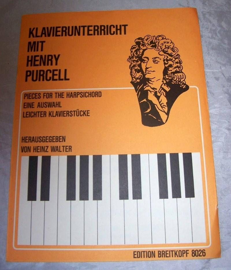 HENRY PURCELL UTWORY NA PIANINO. Nuty.
