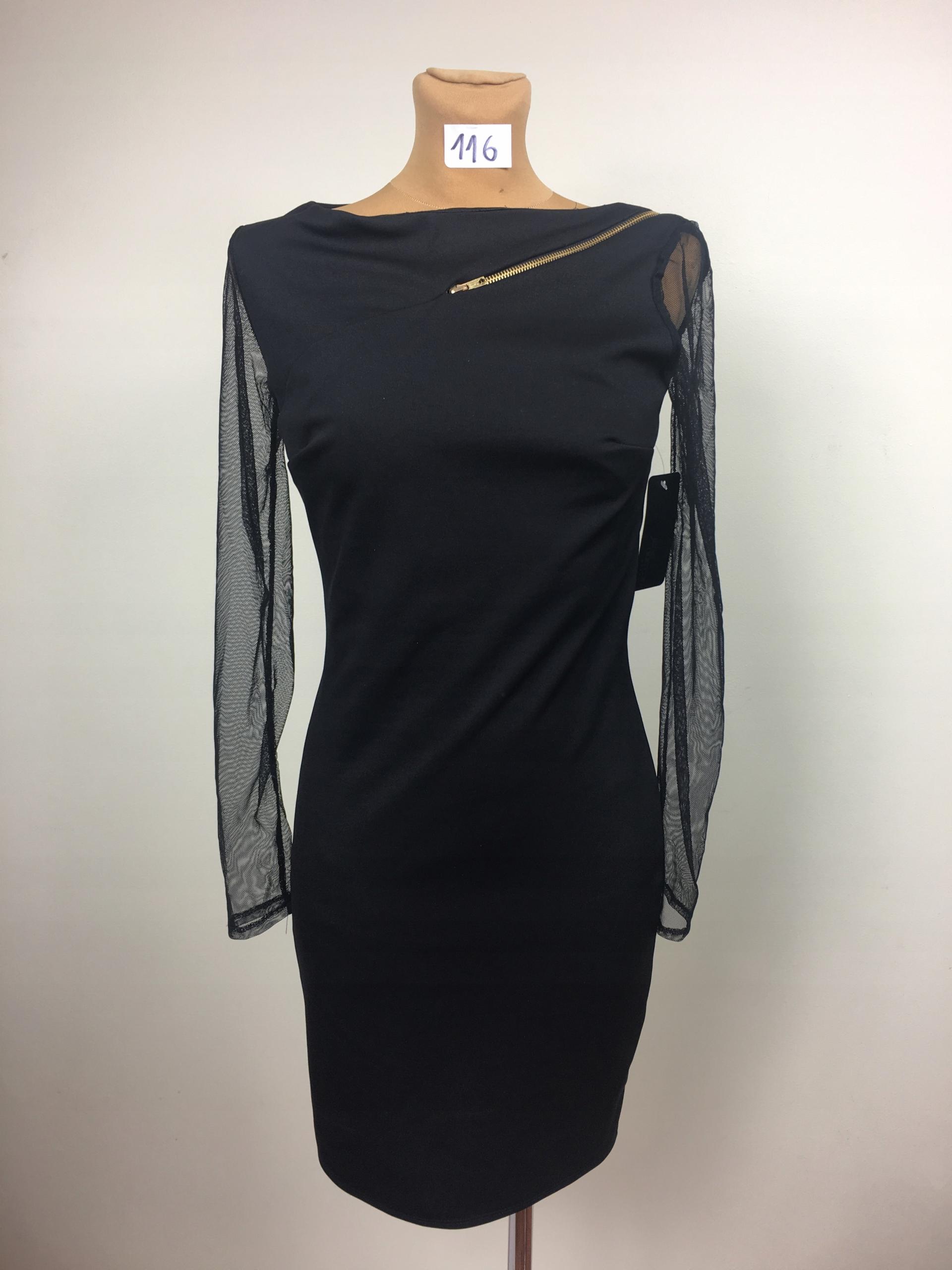 7bab30f82b 116e sukienka studniówka midi czarna impreza 38 M - 7764445597 ...