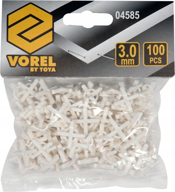 Vorel 04585 Krzyżyki dystansowe z uchwytem U 3,0mm
