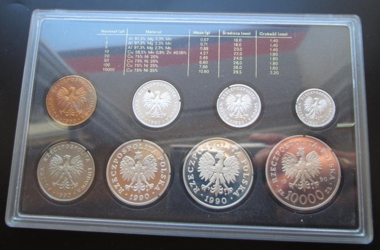 Polskie Monety Obiegowe zestaw rocznikowy 1990 - 7137740550