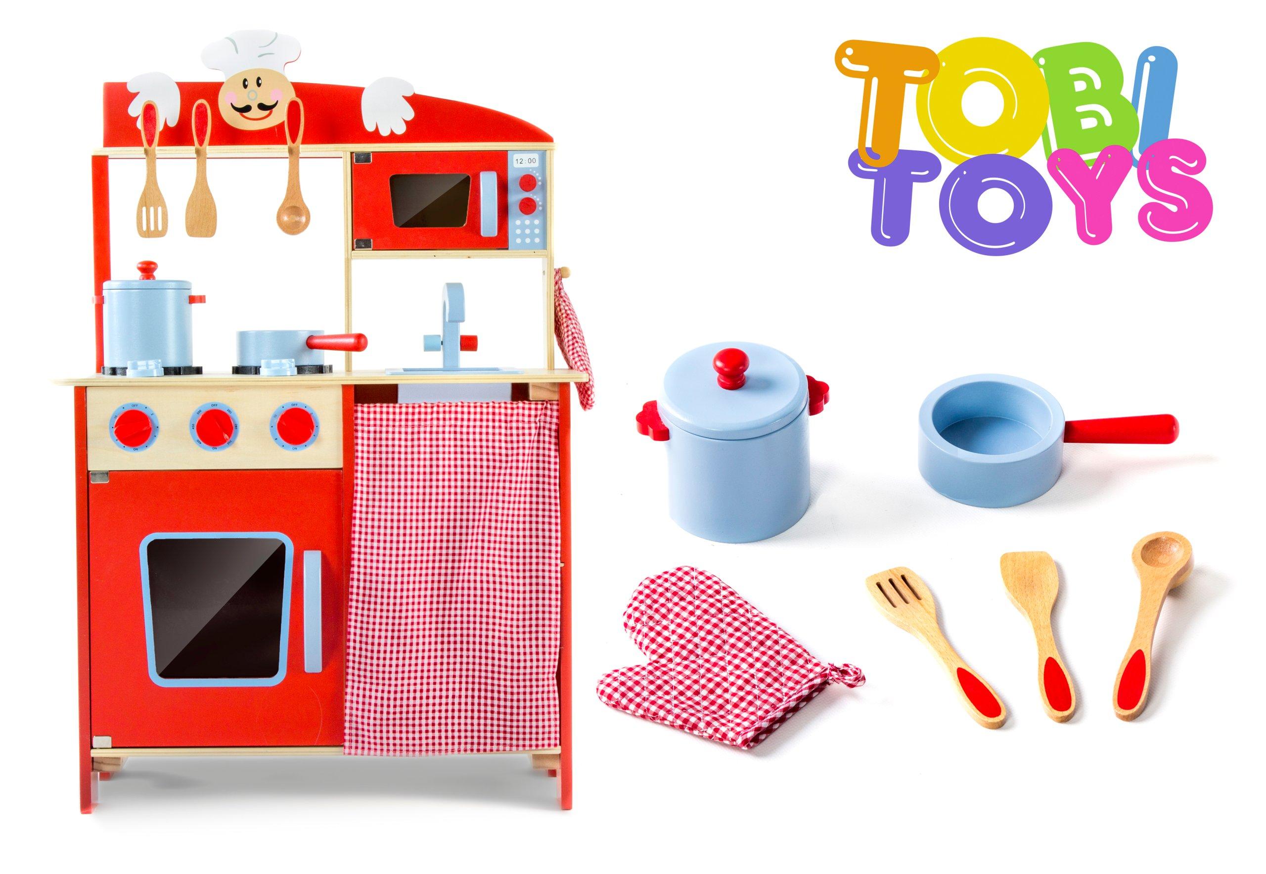 Kuchenka Drewniana Kuchnia Akcesoria Tobi Toys W72