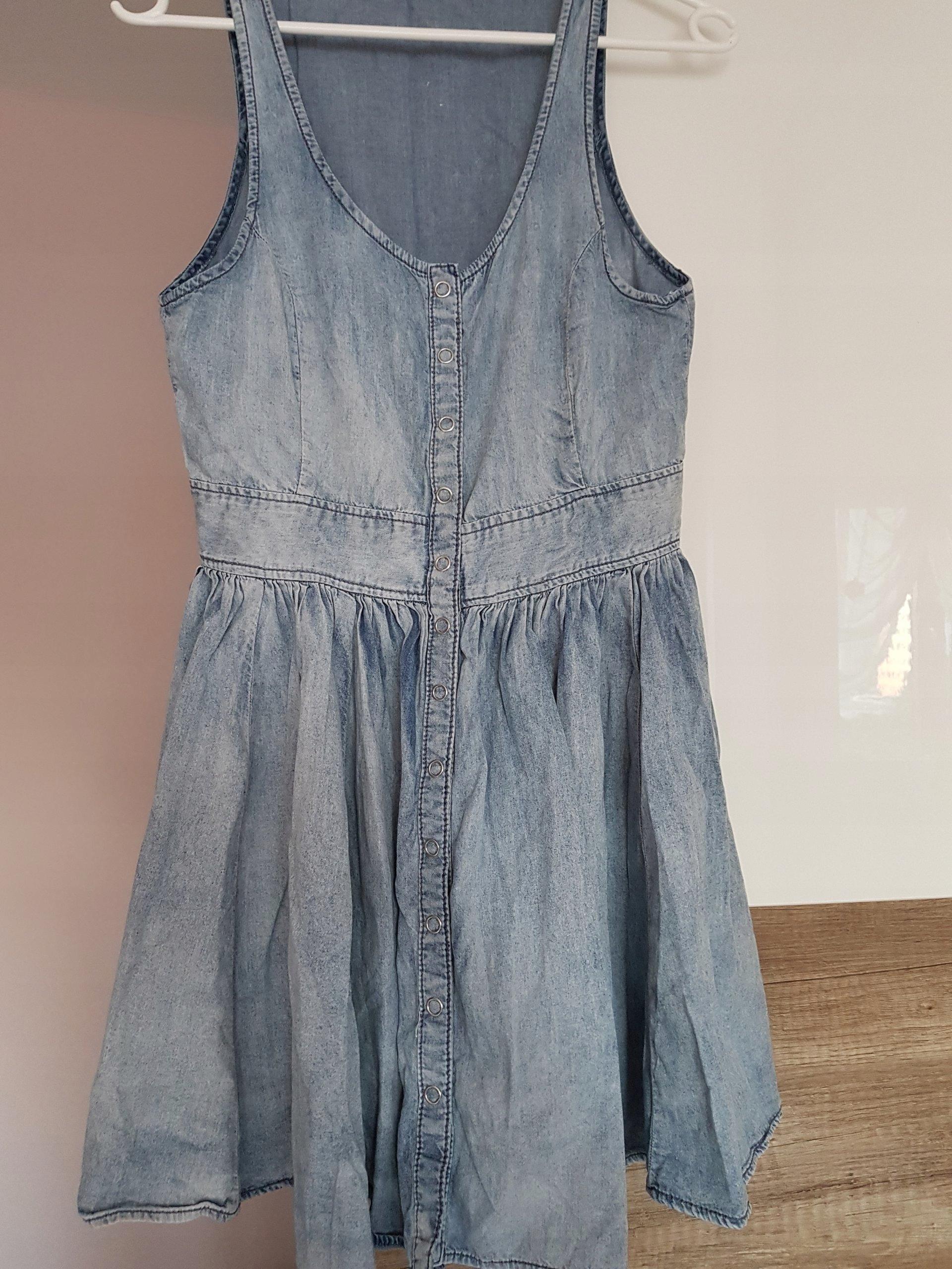 9093ecf4a2 Sukienka jeansowa H M S rozkloszowana LATO - 7480085406 - oficjalne ...