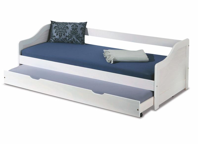 łóżko Młodzieżowe Leonie Białe Dwuosobowe Halmar 7223666595