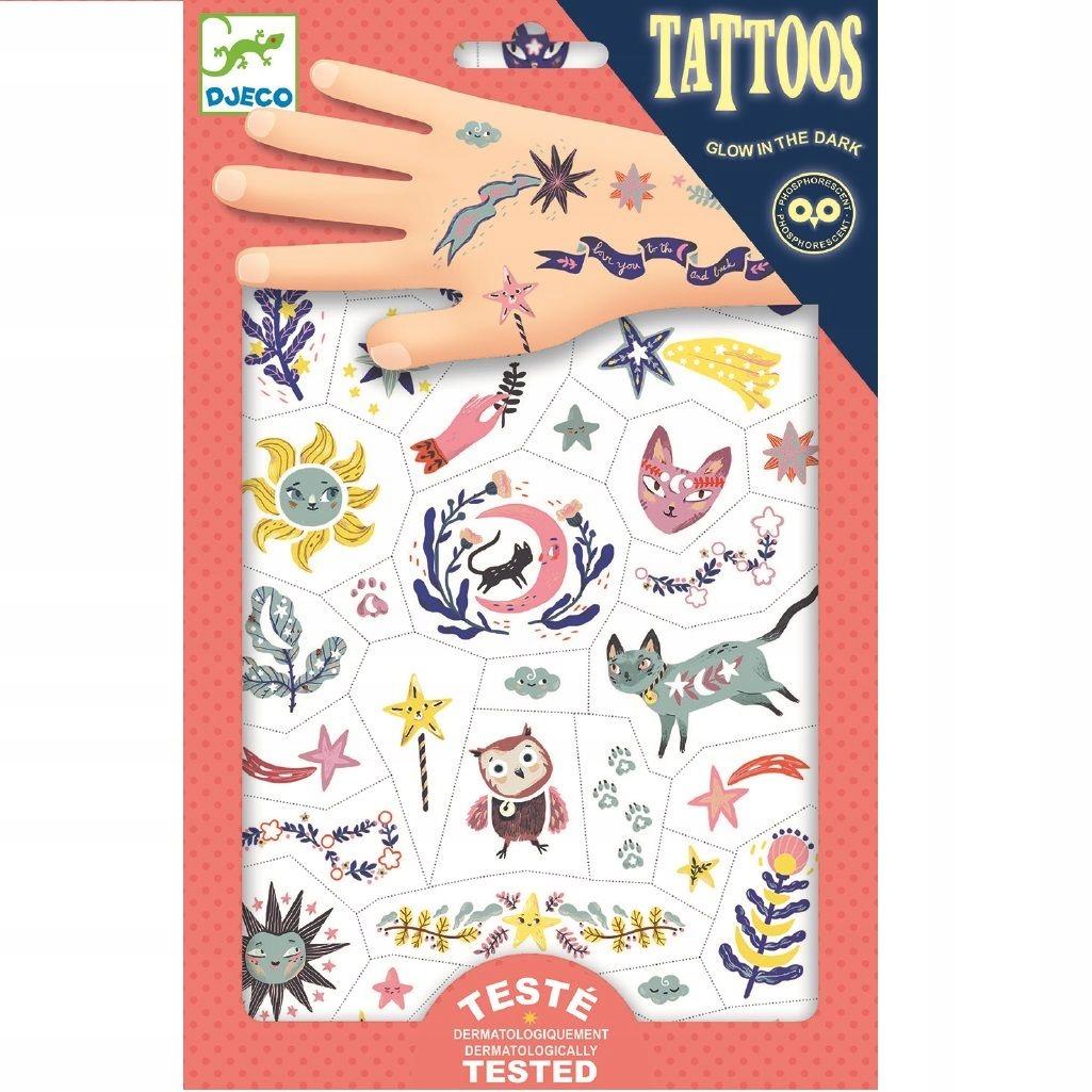 Djeco Tatuaże świecące W Ciemności Sny 7634015156