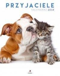 Kalendarz ścienny duży Przyjaciele 2018