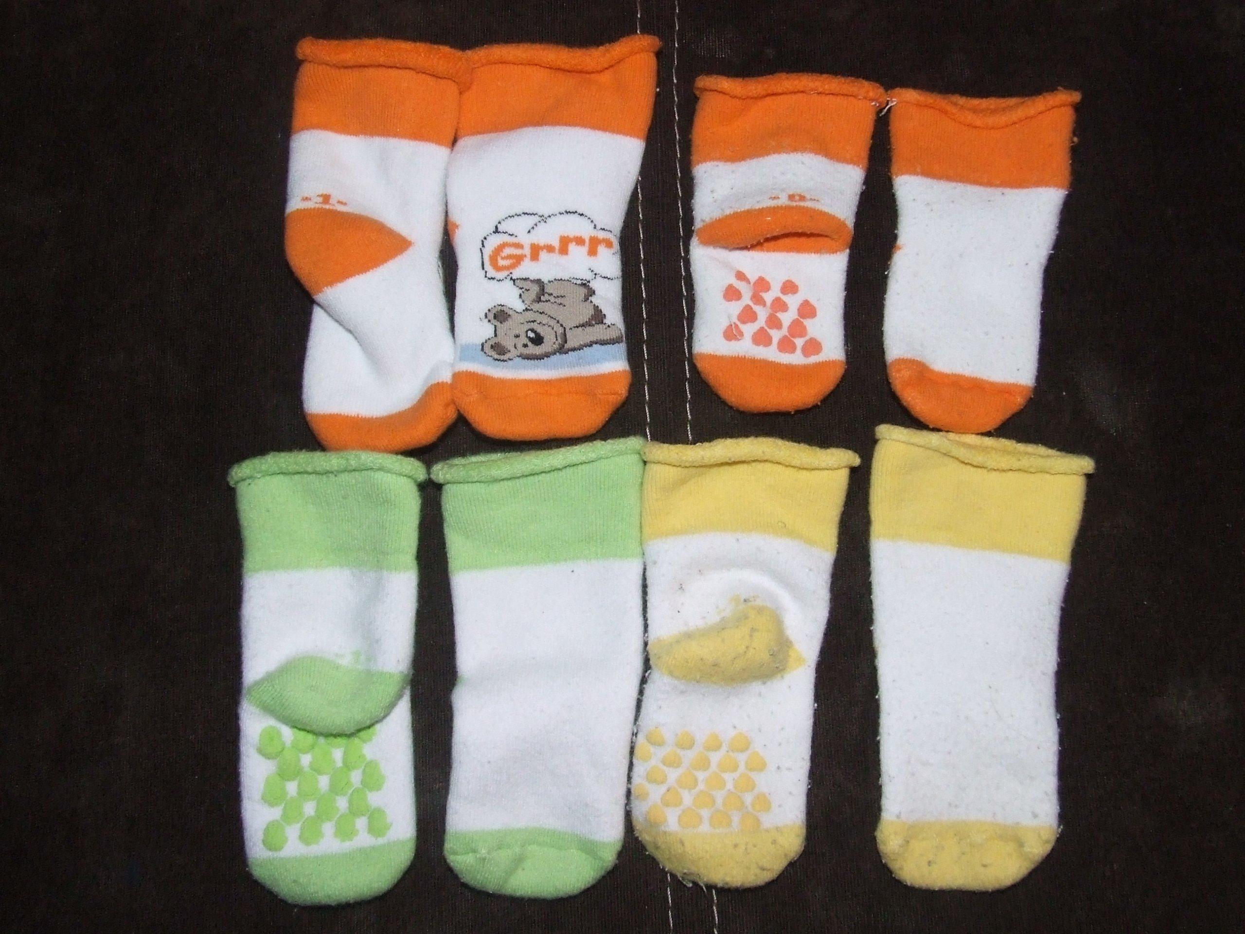 Skarpety frotte 4 szt dla niemowlaka 0-6 m [345]