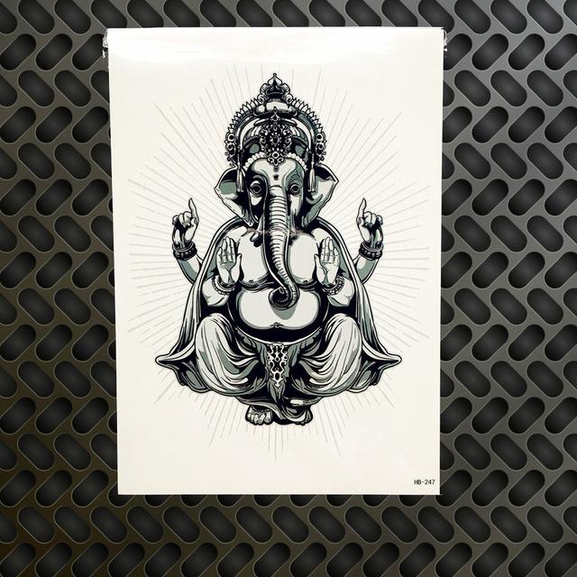 Tatuaż Zmywalny Indie Wiara Budda Yin Yang 7338938505
