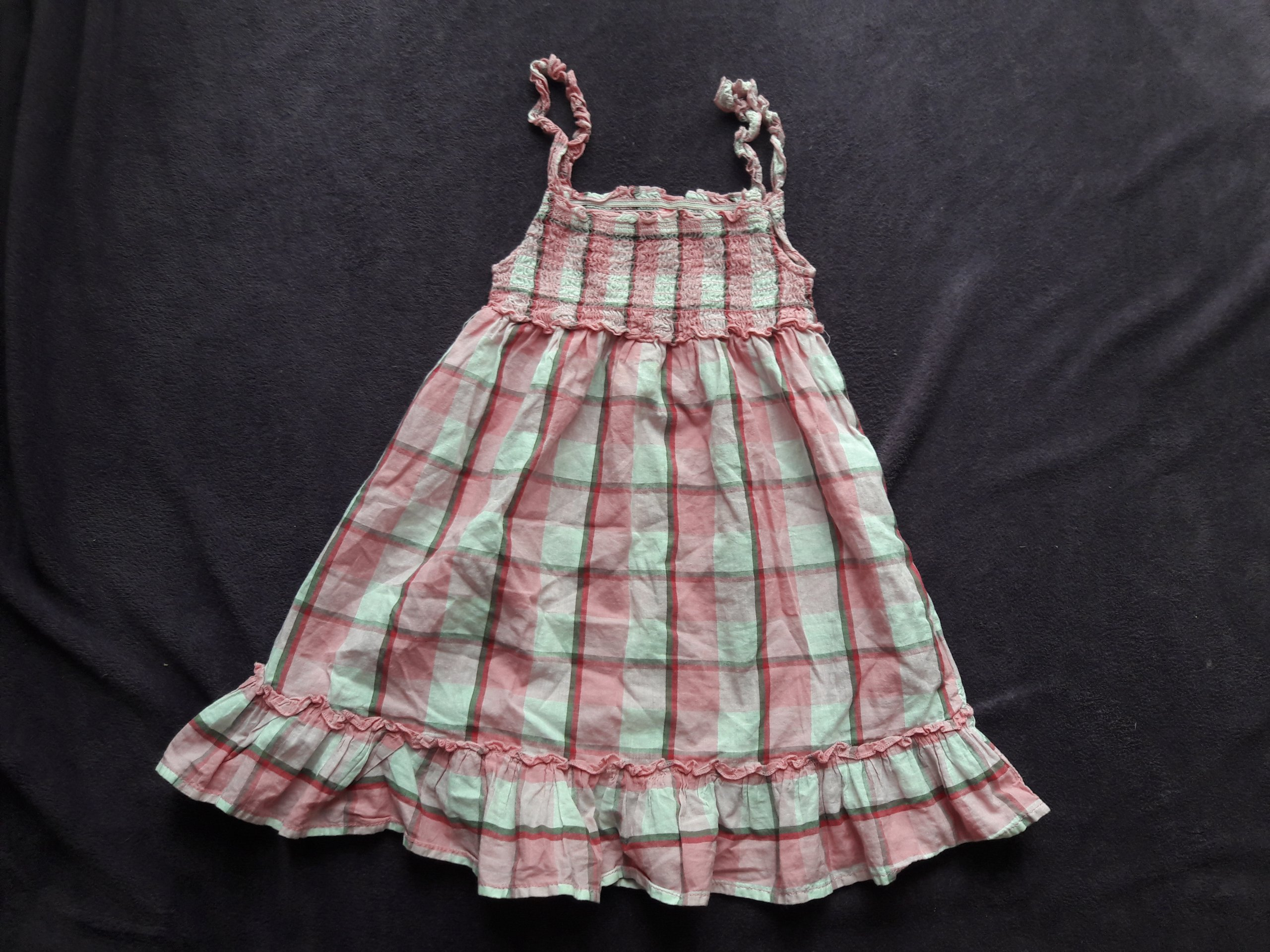 069bb6e88c Letnia sukienka w kratkę - 7380700417 - oficjalne archiwum allegro