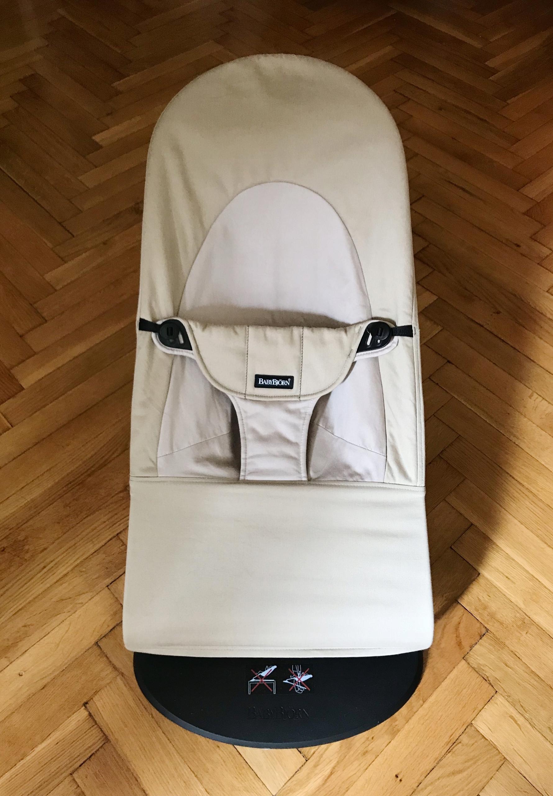 BabyBjorn Leżaczek Balance Soft  Khaki- Beżowy
