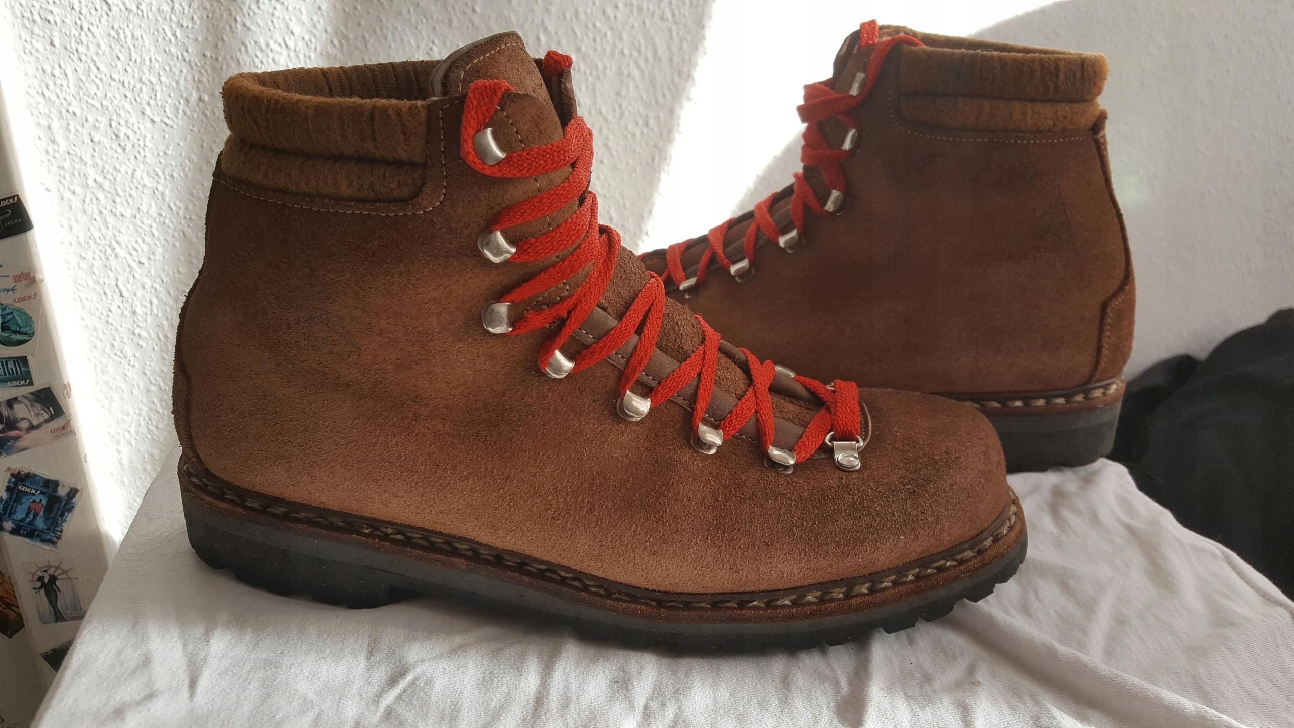 LOWA klasyczne skórzane buty trekkingowe 42 vibram