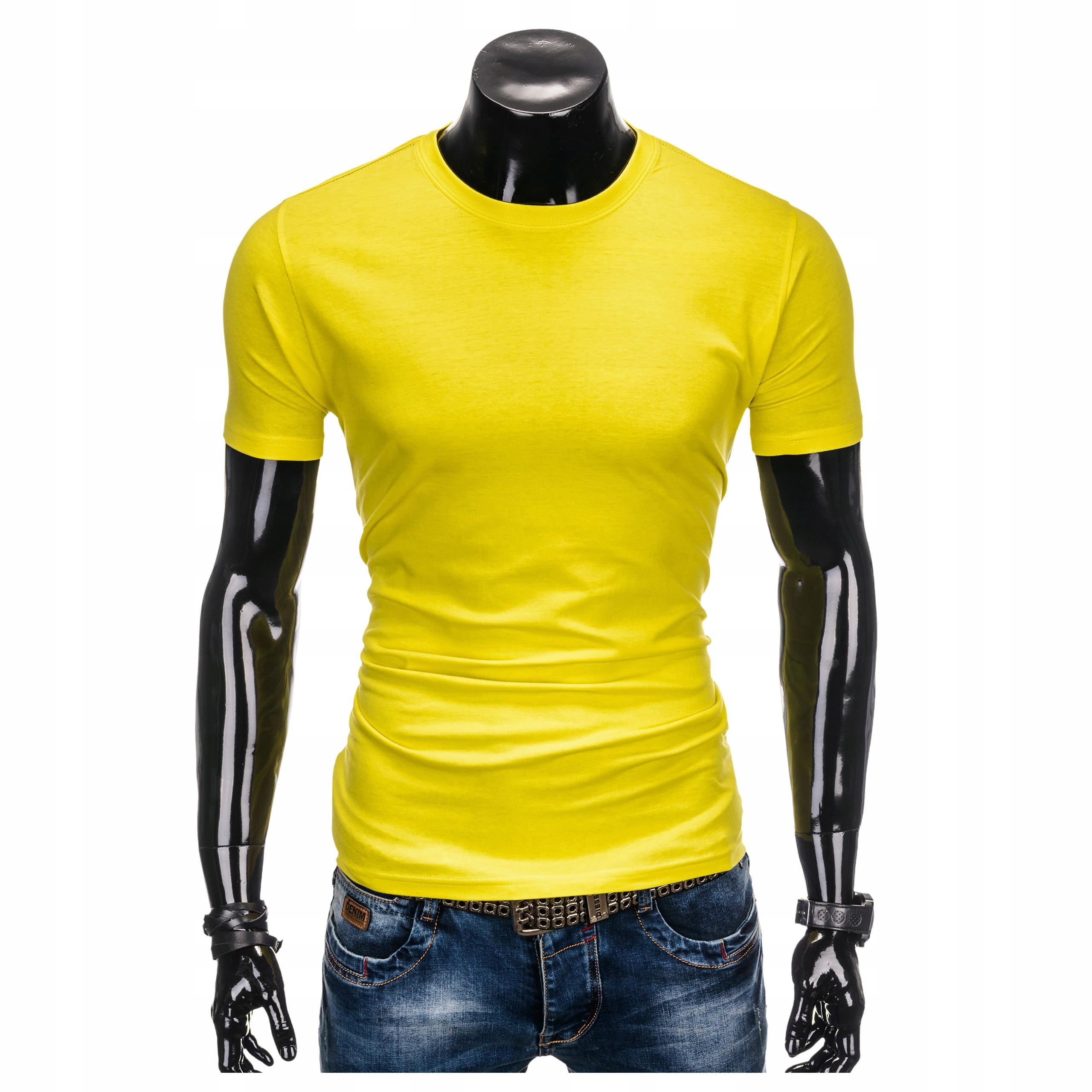 Koszulka męska t shirt OMBRE S884 żółta S 7314085813