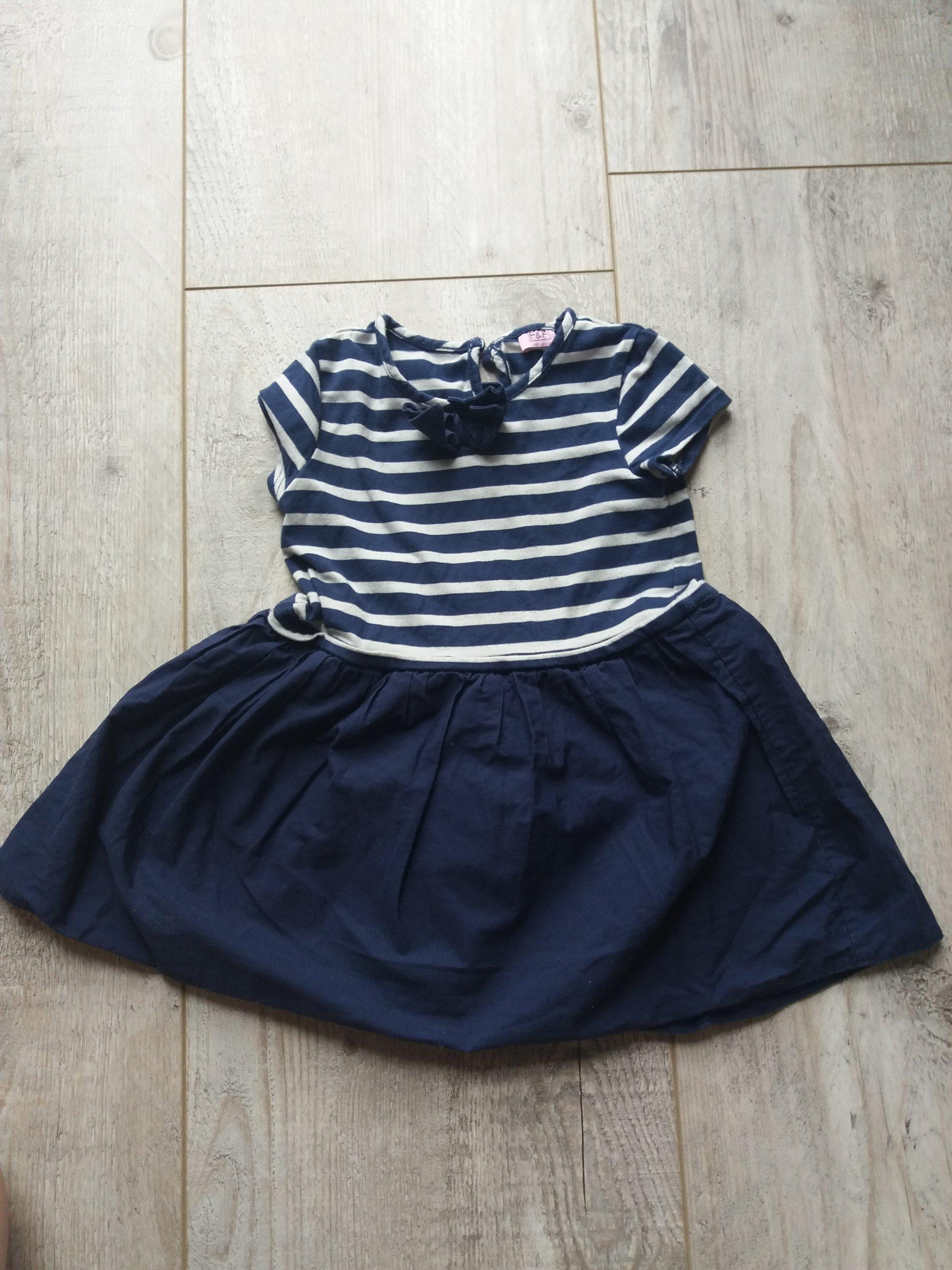 9a19472c24 sukienka marynarska dla dziewczynki F F - 7368796661 - oficjalne ...