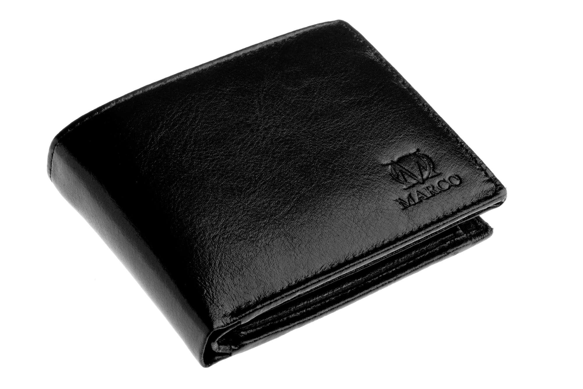58a51c59190c4 Nowy skórzany portfel męski Marco PM-606B czarny - 6258045636 ...