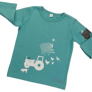 Bluzka farma BIO bawełna ORGANIC 6-12 m Bluzeczka