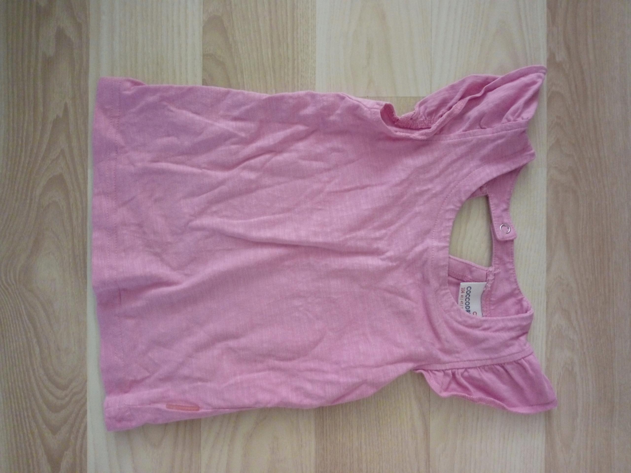 Koszulka dziewczęca różowa cocodrillo 104