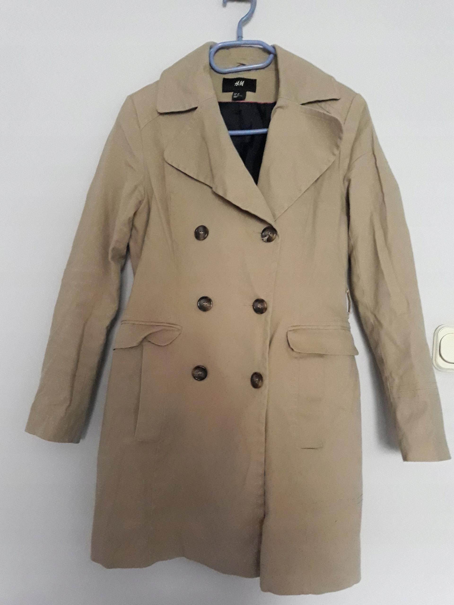 878f8c8897310 Elegancki beżowy płaszcz damski na co dzień HIT - 7579745904 ...