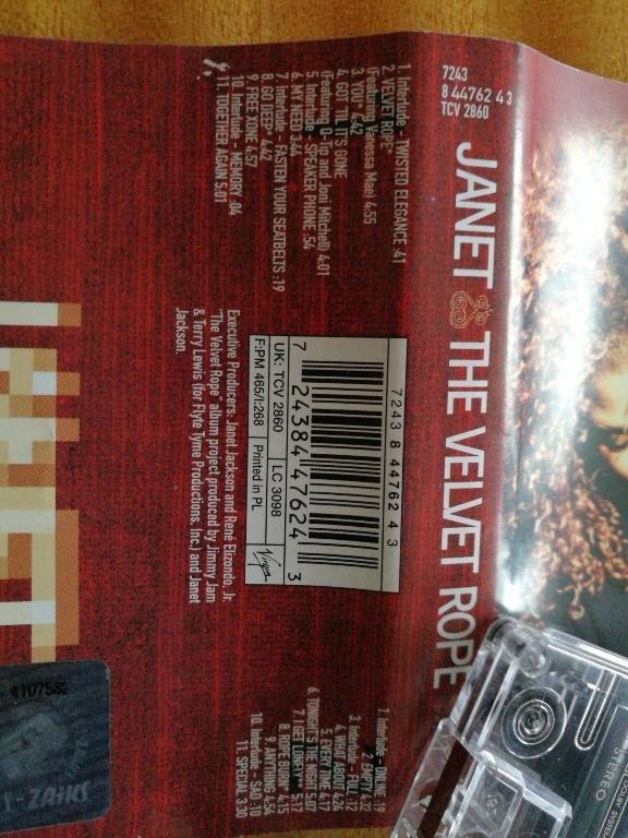 Janet Jackson  The velvet rope  MD kaseta