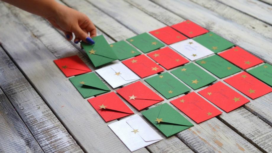 Diy Kalendarz Adwentowy Z Papieru Rodzinne Spedzanie Czasu Allegro Pl