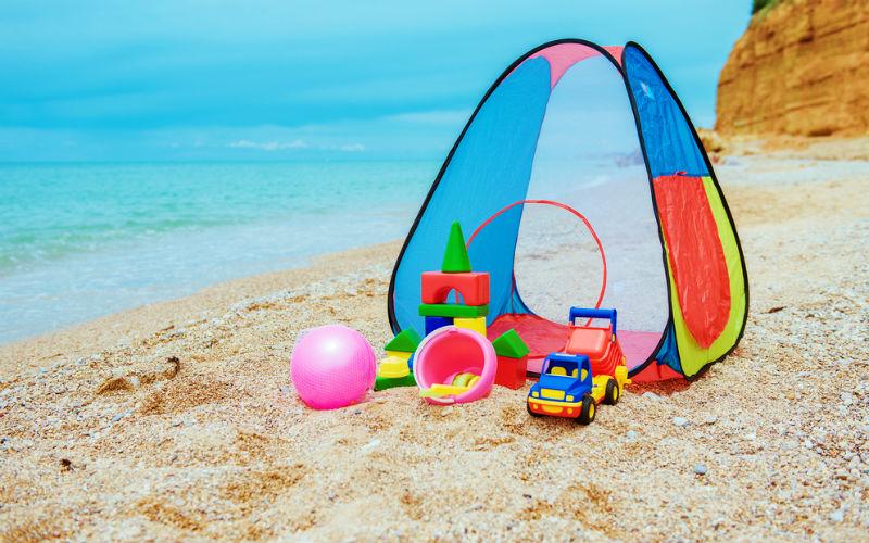 Lozeczko Turystyczne Namiot Plazowy To Moze Sie Przydac Na Rodzinnych Wakacjach Allegro Pl