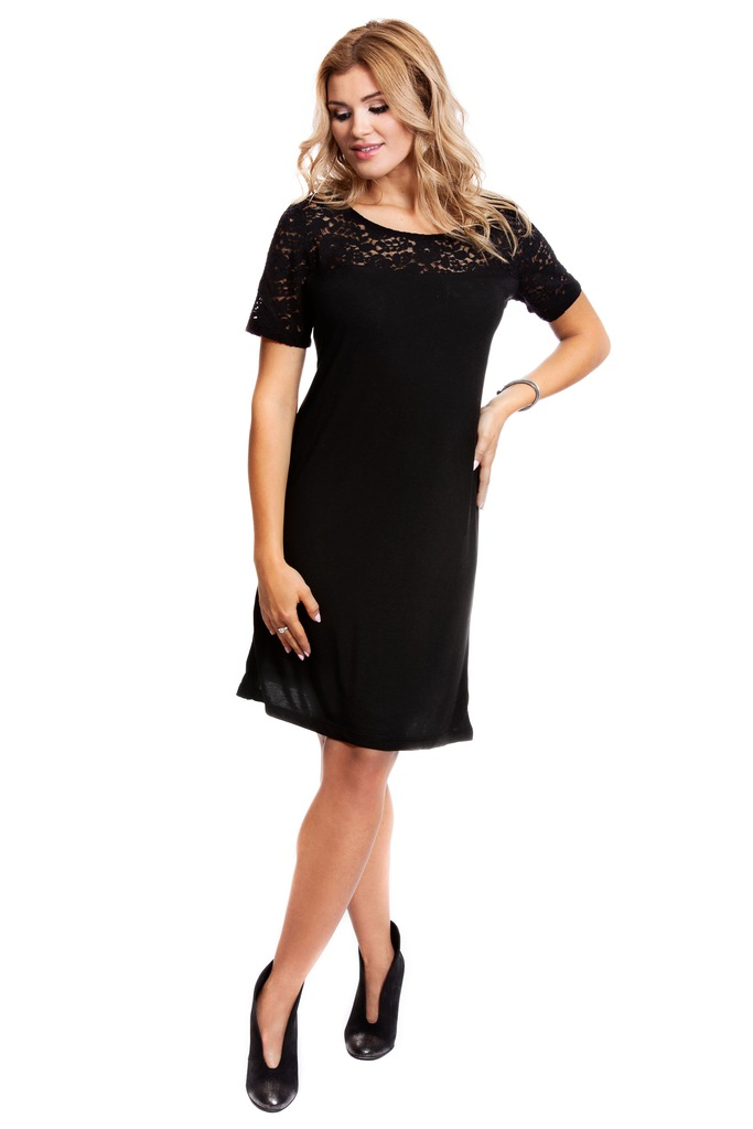 Sukienka ONLY JDYKIMMIE S/S LACE DRESS JRS RPT1 15133890 czarny XS
