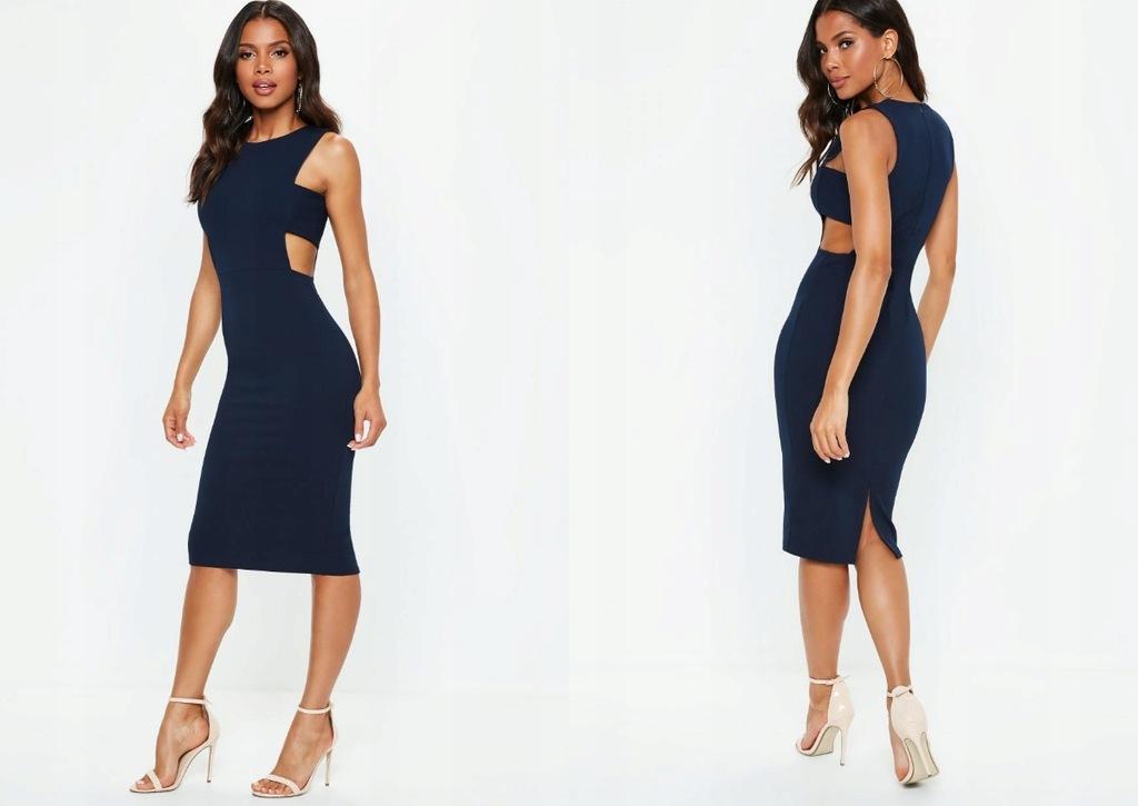 Missguided Sukienka Midi Z Wycieciami Po Bokach X 7776180085 Oficjalne Archiwum Allegro