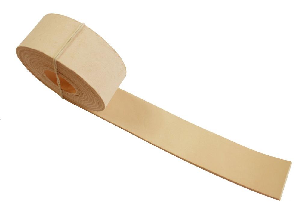 Pasek skórzany do torebki 50 mm 50 cm - naturalny