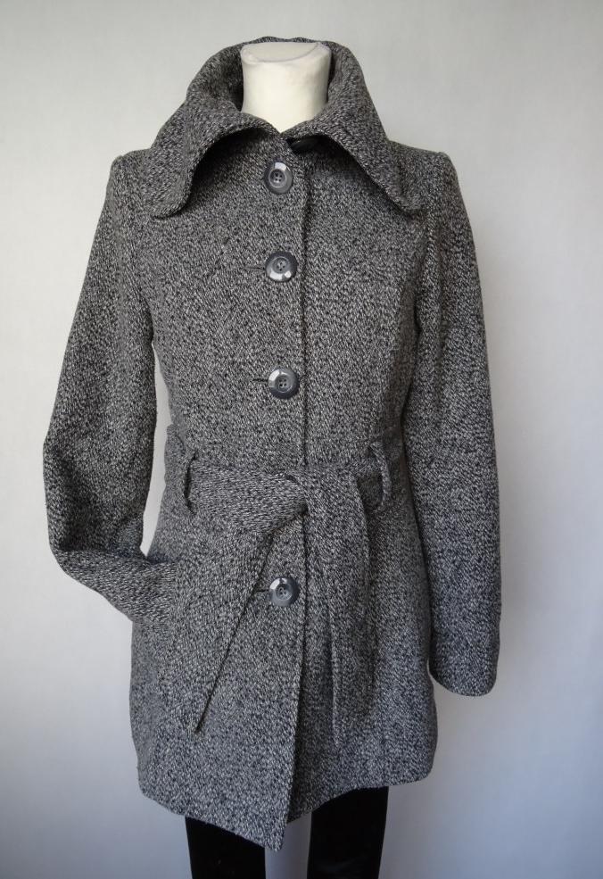 CLOCKHOUSE płaszcz JESIEN WIOSNA szary 36S