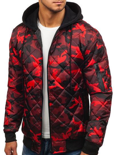 Archiwalne: Kurtka męska Adidas moro czerwona M, L, XL, XXL