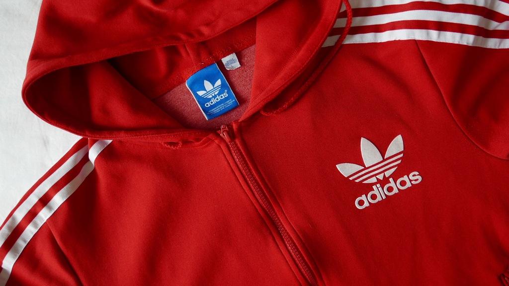 bluza adidas old sql czerwona