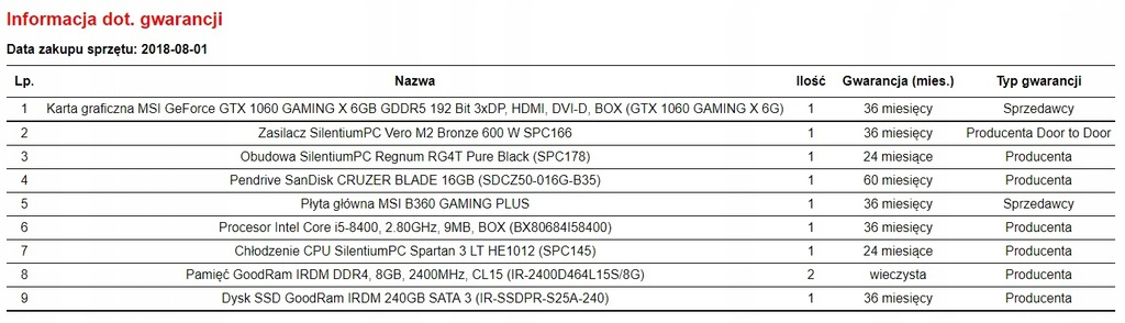 Mocny komputer do gier i5-8400, 1060 6gb, 16gb ram