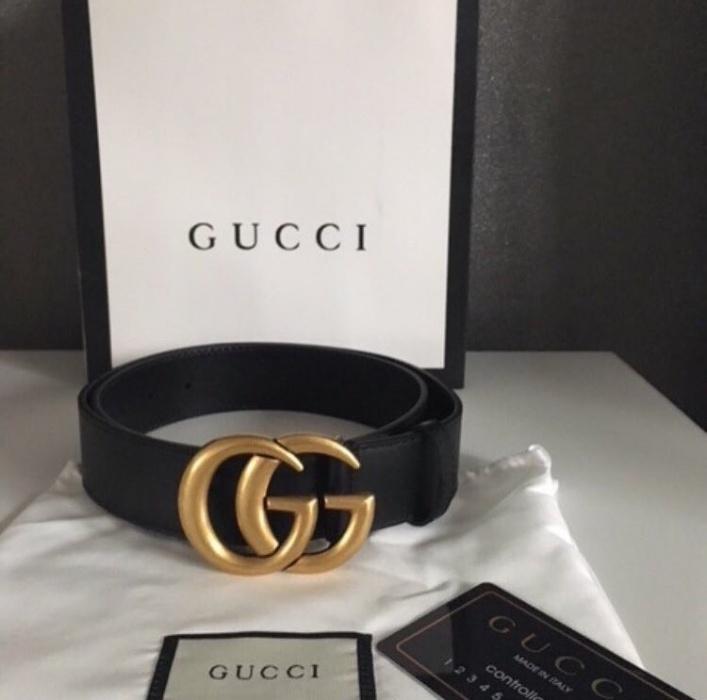 Pasek Gucci Damski Logo 7385449759 Oficjalne Archiwum Allegro