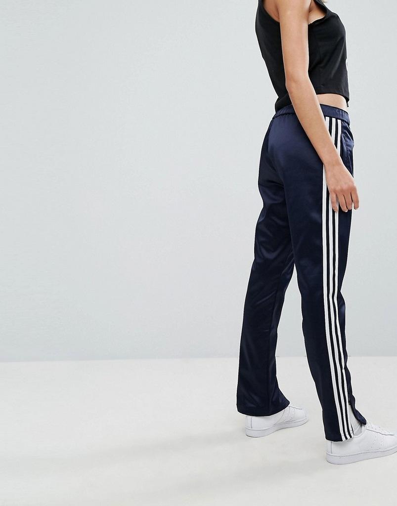 ADIDAS ORIGINALS spodnie GRANAT logo XS 34