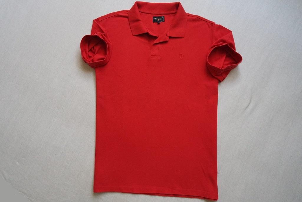 COTTONFIELD koszulka polo czerwona logowana_____XL