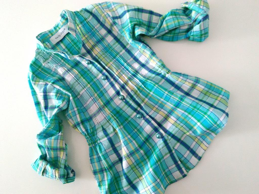 Early Days_śliczna koszula w krateczkę_9-12 mcy