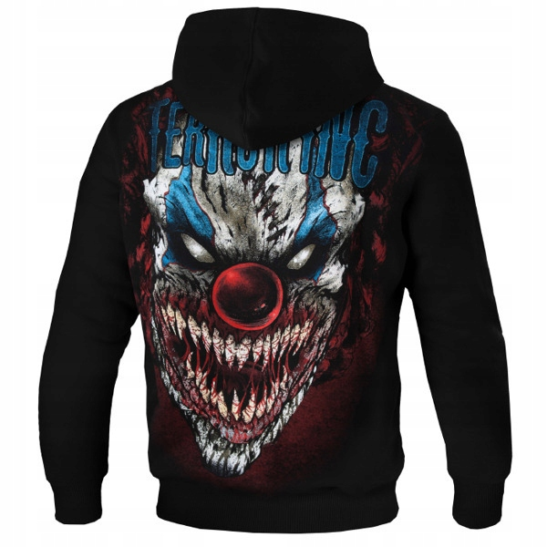 bluza rozpinana z kapturem terror clown