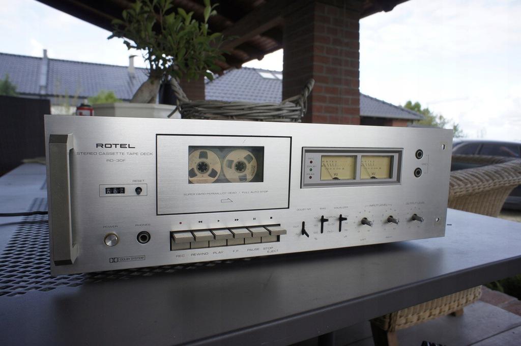 Rotel RD30F VU Vintage magnetofon deck rd 30