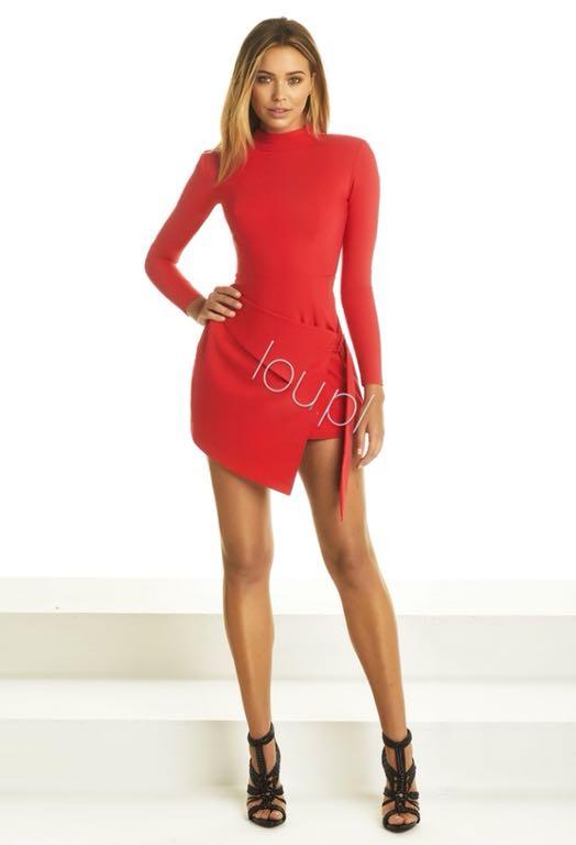 Sukienka Lou xs czerwona melanie