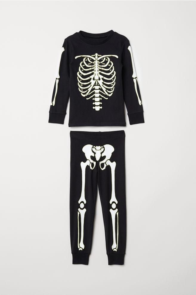 Piżama H&M rozmiar 110-116 /szkielet