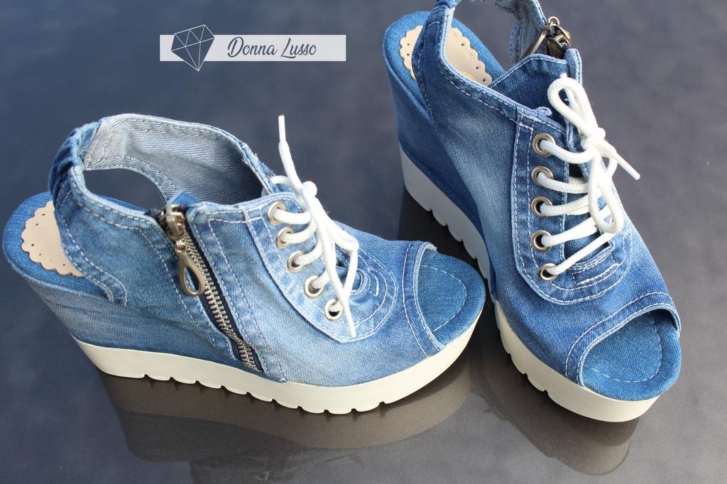 SANDAŁY buty DAMSKIE NA KOTRUNIE WIĄZANE , 5S95