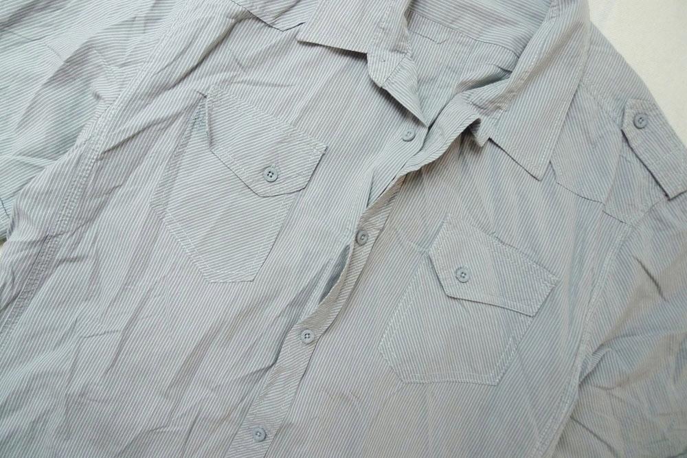 F&F męska koszula krótki rękaw pagony XL 7533603749  M63Sh
