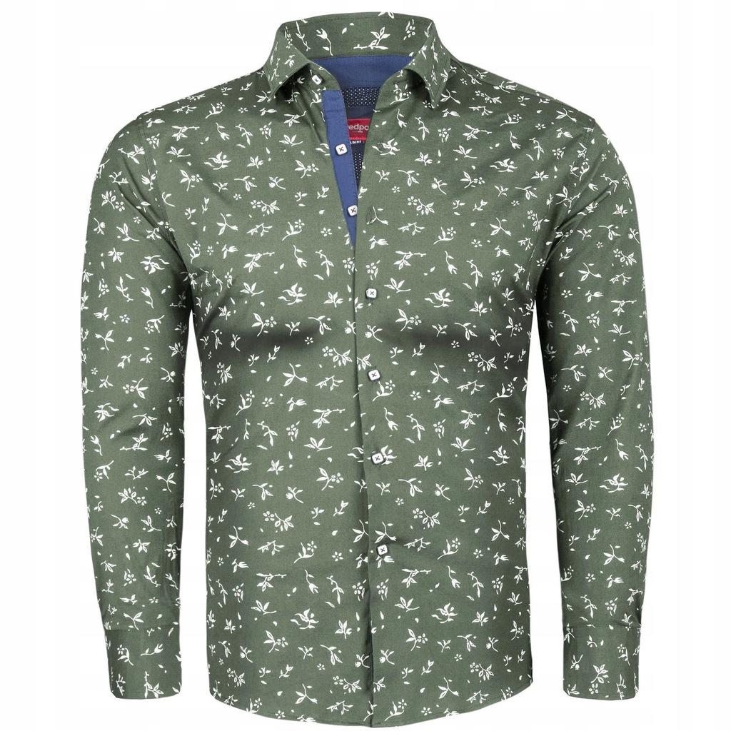 XL Koszula męska elegancka z wzorem Slim 7512463971  MAKwI