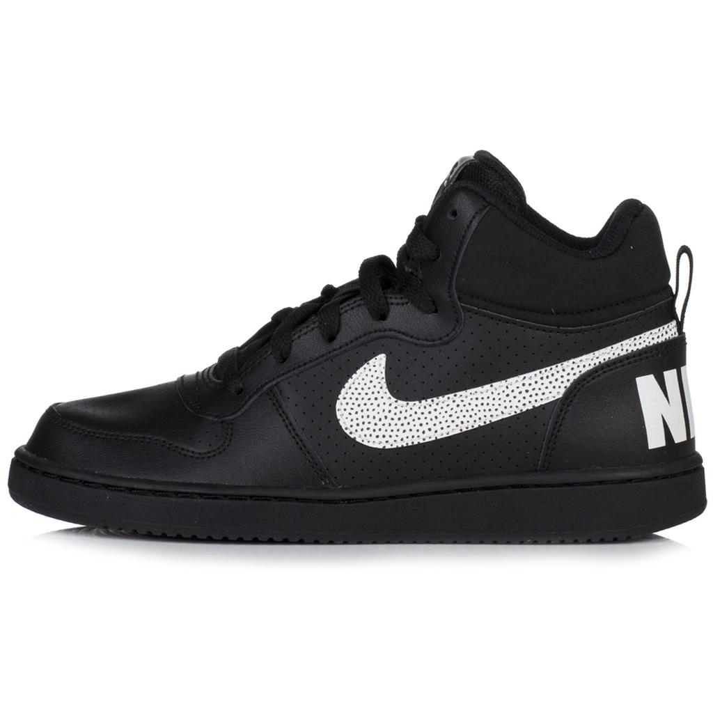 Buty dziecięce Nike Court Borough czarne za kostkę