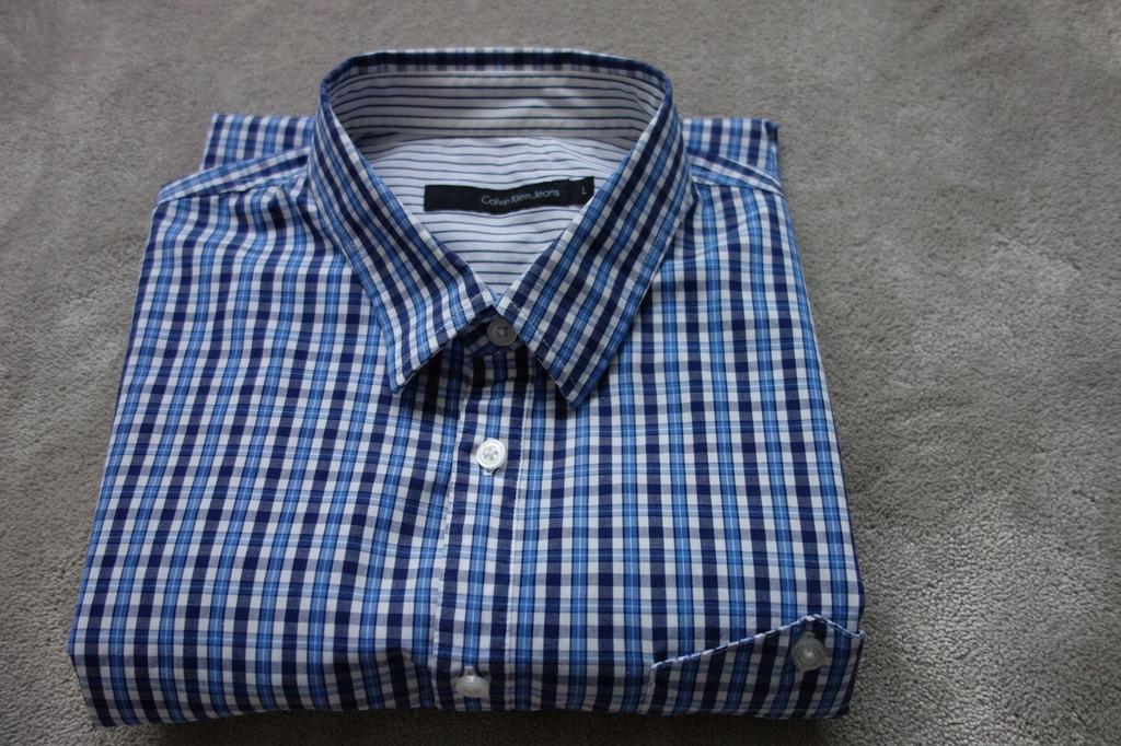 Koszula męska CALVIN KLEIN Jeans rozm. L niebieska