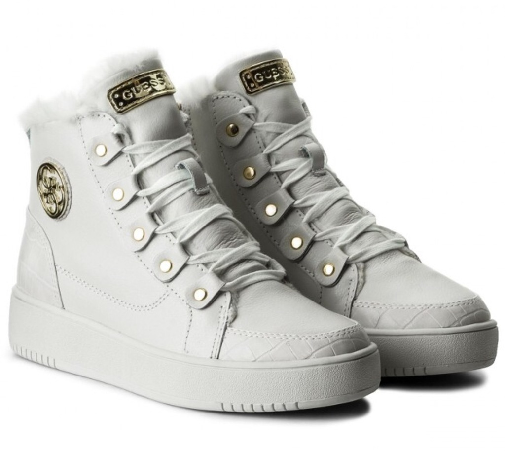 Buty sneakers damskie Guess Dina white biale 39