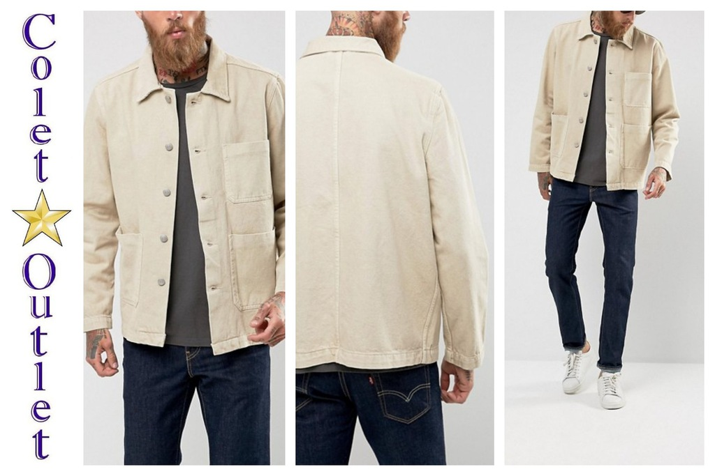 mr41 kurtka katana jeansowa beż XS wyprzedaż