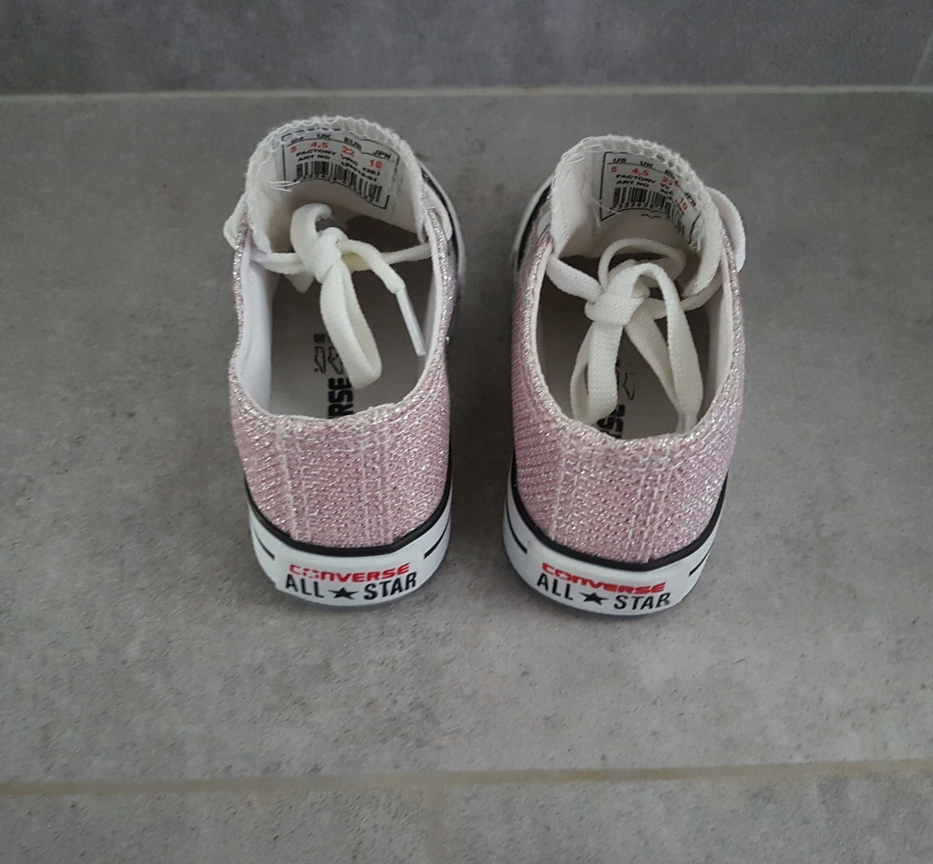 CONVERSE, buty trampki dziewczęce świecące, r.22